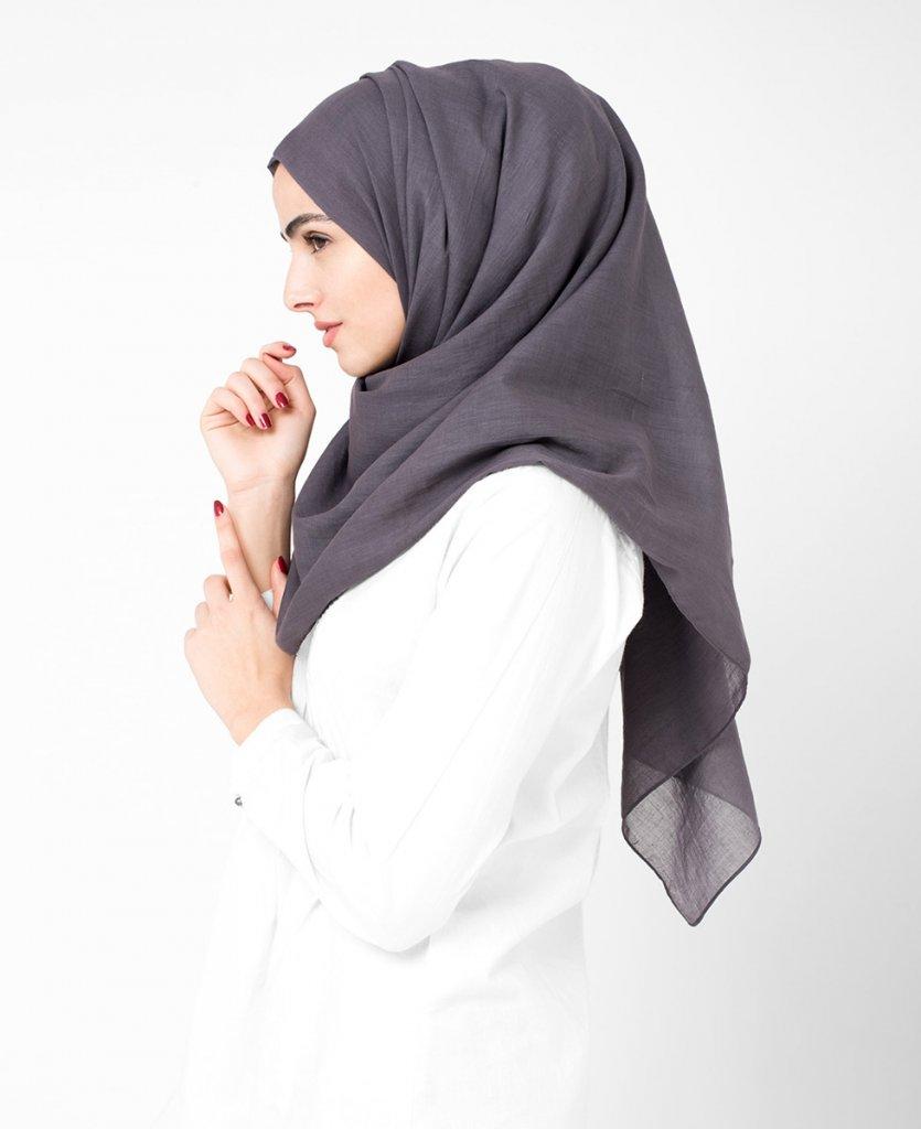 rabbit gr bomull voile hijab fr n inessence. Black Bedroom Furniture Sets. Home Design Ideas