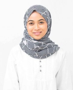 Abstract Striped Bomull Voile Hijab - Silk Route 5A411d