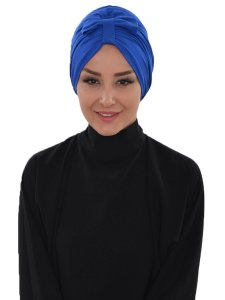 Agnes Blue Cotton Turban Cancer Krebs Ayse Tu1ban 320604-2