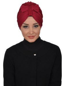 Agnes Bordeaux Cotton Turban Ayse Turban 320603-1