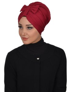 Agnes Bordeaux Cotton Turban Ayse Turban 320603-2