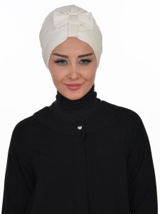 Agnes Creme Bomull Turban Cancer Krebs Ayse Turban 320608-1