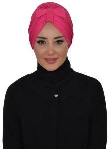 Agnes Fuchsia Bomull Turban Cancer Krebs Ayse Turban 320610-1