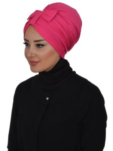 Agnes Fuchsia Bomull Turban Cancer Krebs Ayse Turban 320610-2