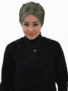 Agnes Khaki Bomull Turban Cancer Krebs Ayse Turban 320613-1