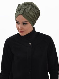 Agnes Khaki Bomull Turban Cancer Krebs Ayse Turban 320613-2
