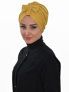 Agnes Senapsgul Bomull Turban Cancer Krebs Ayse Turban 320611-2