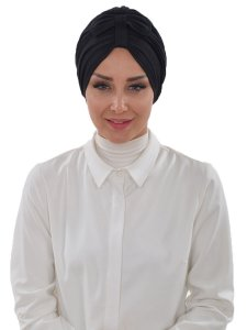 Agnes Svart Bomull Turban Cancer Krebs Ayse Turban 320606-1