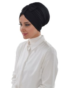Agnes Svart Bomull Turban Cancer Krebs Ayse Turban 320606-2