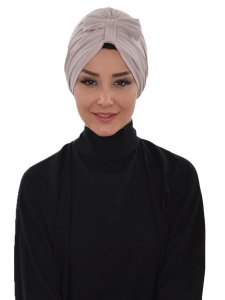 Agnes Taupe Bomull Turban Cancer Krebs Ayse Turban 320602-1