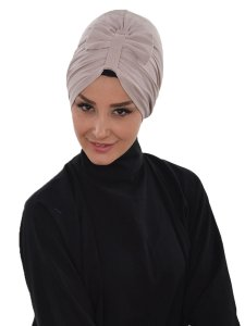 Agnes Taupe Bomull Turban Cancer Krebs Ayse Turban 320602-2