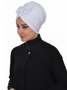 Agnes Vit Bomull Turban Cancer Krebs Ayse Turban 320612-2