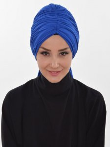 Amy Blue Cotton Turban Ayse Turban 320012a