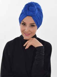 Amy Blue Cotton Turban Ayse Turban 320012b