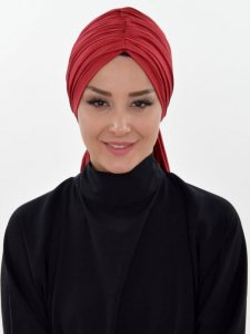 Amy Bordeaux Cotton Turban Ayse Turban Tasarim 320008a