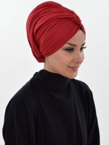 Amy Bordeaux Cotton Turban Ayse Turban Tasarim 320008b