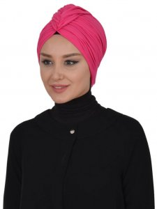 Amy Fuchsia Cotton Turban Ayse Turban 320011a