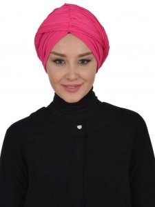 Amy Fuchsia Cotton Turban Ayse Turban 320011b