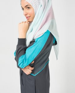 Aqua Bliss - Light Blue Regular & Maxi Hijabs