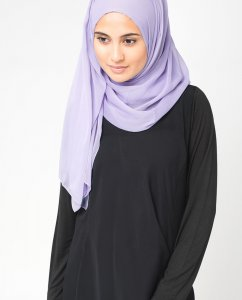Ashley Blue Blå PolyChiffong Hijab 5RA9
