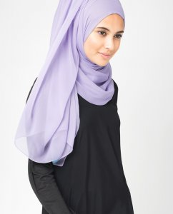 Ashley Blue Blå PolyChiffong Hijab 5RA9a