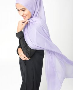 Ashley Blue Blå PolyChiffong Hijab 5RA9b