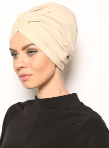 Asli Beige Turban Vera Bone Modest Fashion 120052a