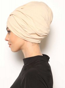 Asli Beige Turban Vera Bone Modest Fashion 120052b