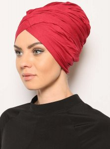 Asli Bordeaux Turban Vera Bone Modest Fashion 120060a