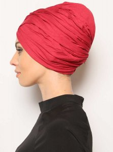 Asli Bordeaux Turban Vera Bone Modest Fashion 120060c