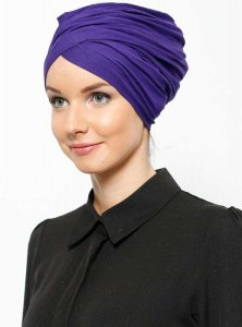 Asli Lila Turban Vera Bone Modest Fashion 120063a