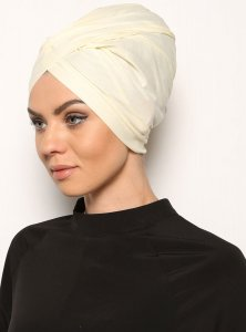 Asli Offwhite Turban Modest Fashion Vera Bone 120053a