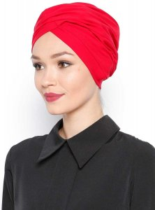 Asli Röd Turban Vera Bone Modest Fashion 120064a