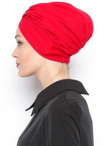 Asli Röd Turban Vera Bone Modest Fashion 120064b