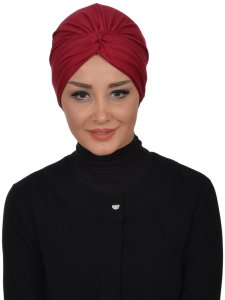 Astrid Bordeaux Bomull Turban Krebs Cancer Ayse Turban 320403-3