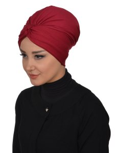 Astrid Bordeaux Bomull Turban Krebs Cancer Ayse Turban 320403-2