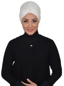 Astrid Creme Bomull Turban Cancer Krebs Ayse Turban 320408-1