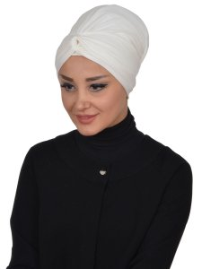 Astrid Creme Bomull Turban Cancer Krebs Ayse Turban 320408-2