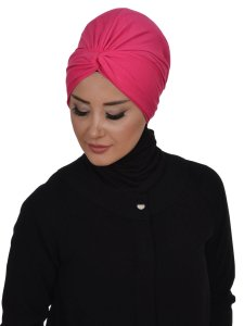 Astrid Fuchsia Bomull Turban Cancer Krebs Ayse Turban 320410-2