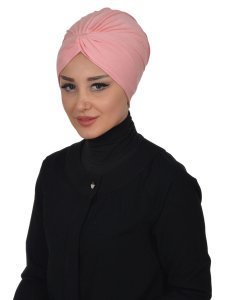 Astrid Dusty Pink Cotton Turban Cancer Krebs Ayse Turban 320407-2