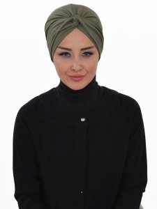 Astrid Khaki Bomull Turban Cancer Krebs Ayse Turban 320413-1