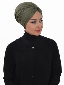 Astrid Khaki Bomull Turban Cancer Krebs Ayse Turban 320413-2