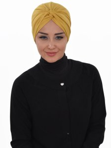 Astrid Senapsgul Bomull Turban Cancer Krebs Ayse Turban 320411-1
