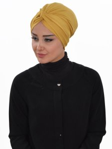 Astrid Senapsgul Bomull Turban Cancer Krebs Ayse Turban 320411-2