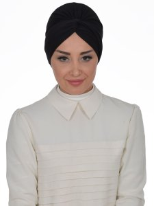 Astrid Svart Bomull Turban Cancer Krebs Ayse Turban 320406-1