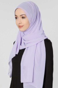 Ayla Light Purple Chiffon Hijab Shawl Scarf 300414b