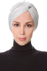 Belinay Light Grey Turban Ecardin 201828a