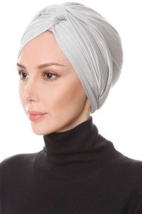Belinay Light Grey Turban Ecardin 201828b