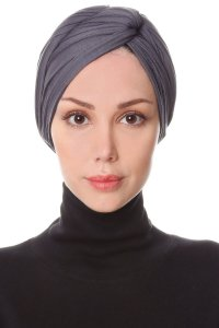 Belinay Dark Grey Turban Ecardin 201827a