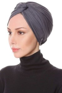 Belinay Dark Grey Turban Ecardin 201827b